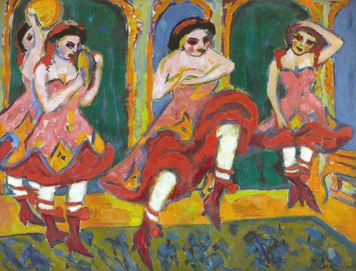 cuadros-de-retrato - Cuadro -Bailarines de Czardas- - Kirchner, Ernst Ludwig
