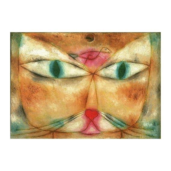 Cuadro - Gato y Pajaro -