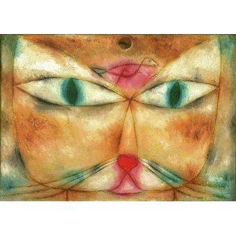 CUADROS PARA SALON - Cuadro - Gato y Pajaro - - Klee, Paul