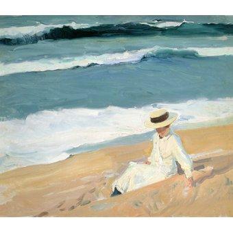 cuadros de marinas - Cuadro -En la playa, Biarritz- - Sorolla, Joaquin