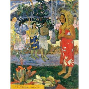 cuadros de retrato - Cuadro -Ia Orana Maria- - Gauguin, Paul
