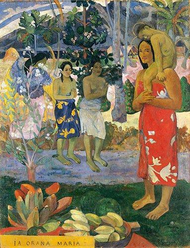 cuadros-de-retrato - Cuadro -Ia Orana Maria- - Gauguin, Paul
