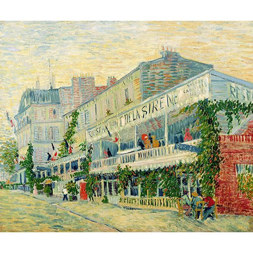 Cuadro -Restaurant de la Sirène, Asnieres, 1887-