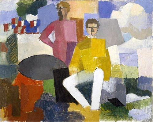 cuadros-abstractos - Cuadro -El 14 de julio- - Fresnaye, Roger de la