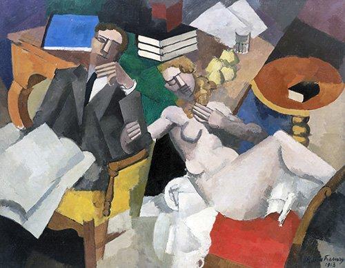 cuadros-de-retrato - Cuadro -Vida de casados- - Fresnaye, Roger de la