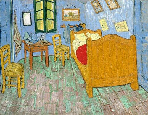 cuadros-de-bodegones - Cuadro -La habitación de Van Gogh en Arles, (1889)- - Van Gogh, Vincent