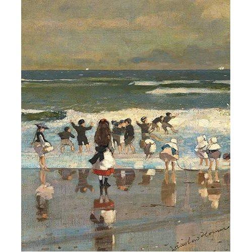 Cuadro -Escena en la playa-