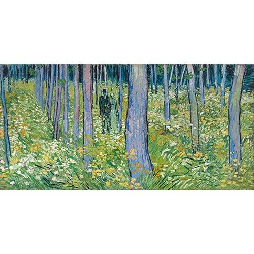 Cuadro -Dos figuras en el bosque-