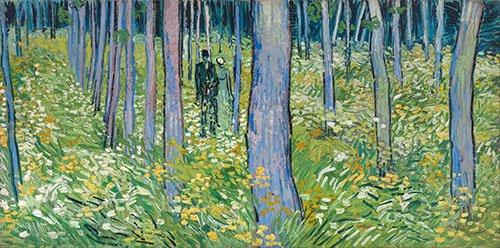 cuadros-de-paisajes - Cuadro -Dos figuras en el bosque- - Van Gogh, Vincent