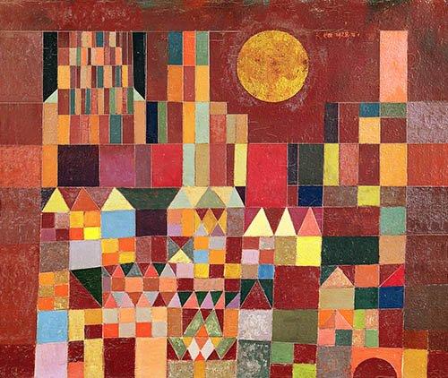 cuadros-abstractos - Cuadro - Schloss und Sonne, 1928 - - Klee, Paul