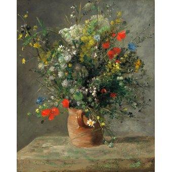 Cuadro - Fleurs dans un vase, 1866 - - Renoir, Pierre Auguste