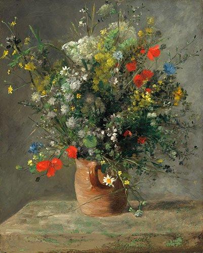 cuadros-de-flores - Cuadro - Fleurs dans un vase, 1866 - - Renoir, Pierre Auguste