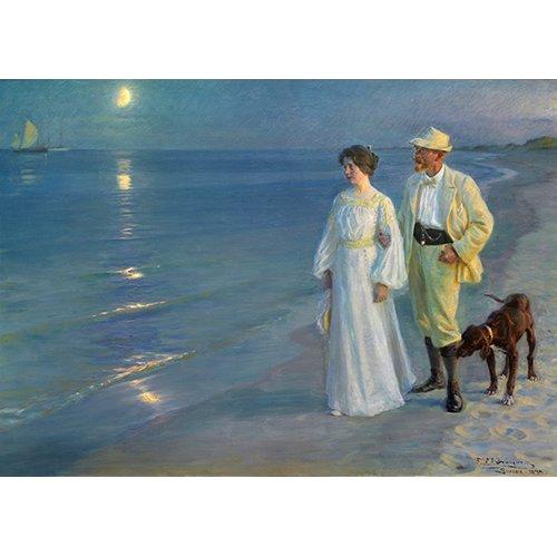 Cuadro - Sommeraften_ved_Skagens_strand., 1899 -