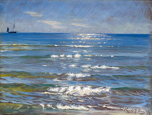 cuadros-de-marinas - Cuadro - Eftermiddagssol og Havblik - - Kroyer, Peder Severin