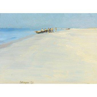 Cuadro - Fishermen on the beach at Skagen - - Kroyer, Peder Severin