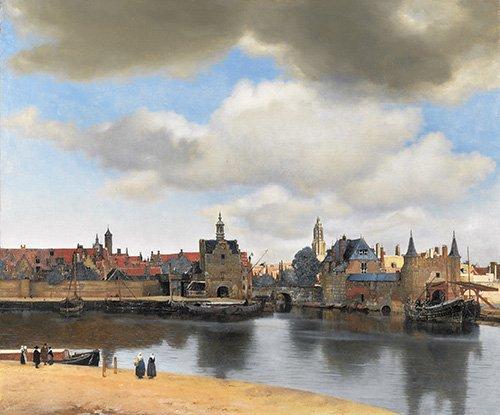 cuadros-de-paisajes - Cuadro -Vista de Delft- - Vermeer, Johannes