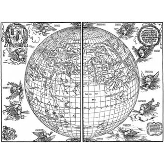 Cuadro - Durer Woodcut map - Dürer, Albrecht (Albert Durer)