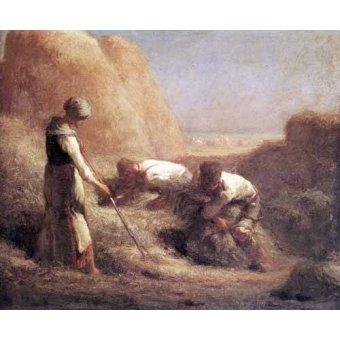 - Cuadro -Les Batteleurs (1850)- - Millet, Jean François