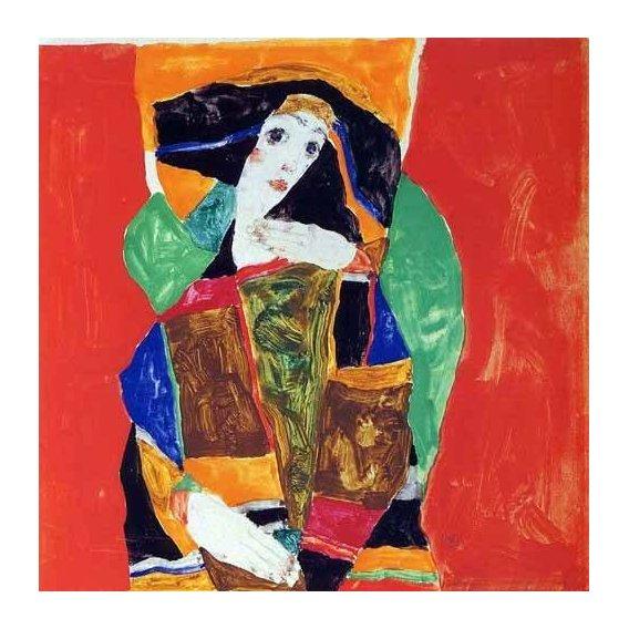 cuadros de retrato - Cuadro -Retrato de mujer-
