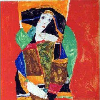 - Cuadro -Retrato de mujer- - Schiele, Egon