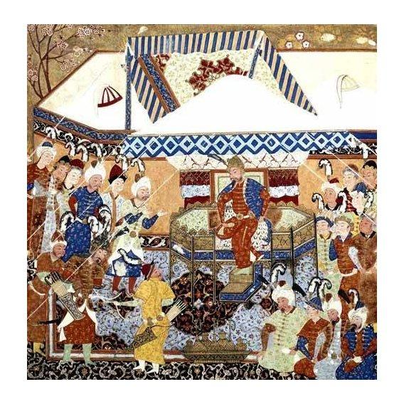 cuadros etnicos y oriente - Cuadro -La Corte Turco-Mongolia del Emperador Tamerlan-