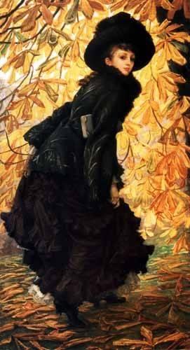 cuadros-de-retrato - Cuadro -Octubre- - Tissot, James