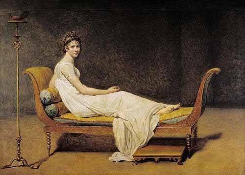 cuadros-de-retrato - Cuadro -Mme. Recamier- - David, Jacques Louis