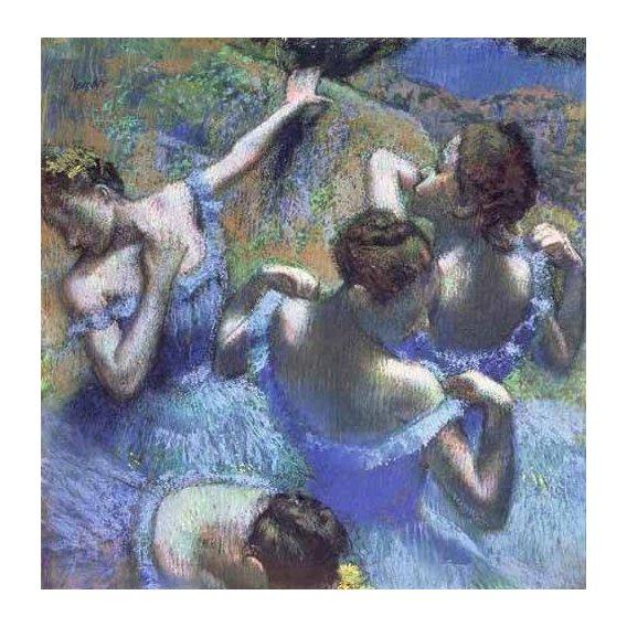 cuadros de retrato - Cuadro -Blue Dancers-