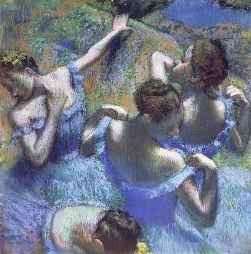 cuadros-de-retrato - Cuadro -Blue Dancers- - Degas, Edgar