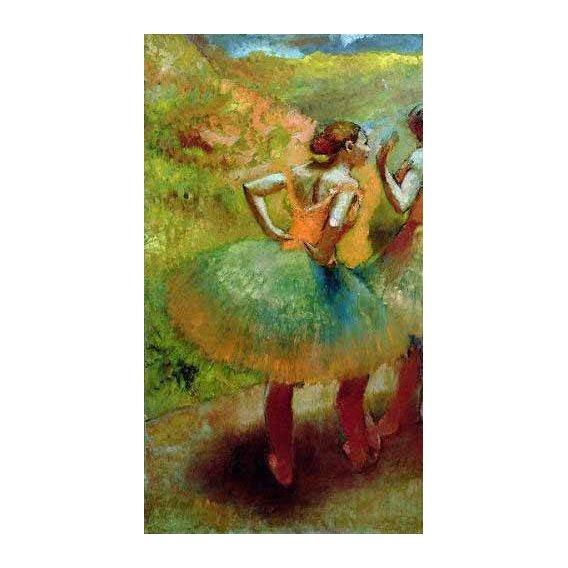 cuadros de retrato - Cuadro -Las bailarinas de las faldas verdes-