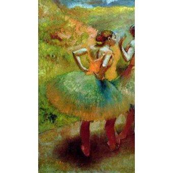 - Cuadro -Las bailarinas de las faldas verdes- - Degas, Edgar