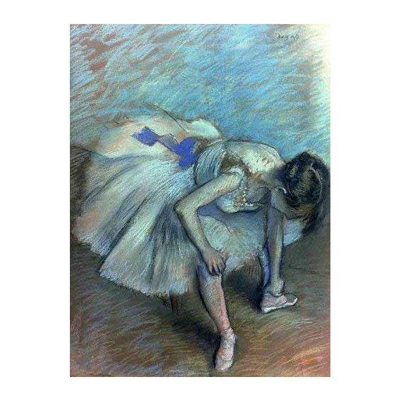 cuadros de retrato - Cuadro -Bailarina sentada-