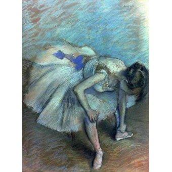 - Cuadro -Bailarina sentada- - Degas, Edgar