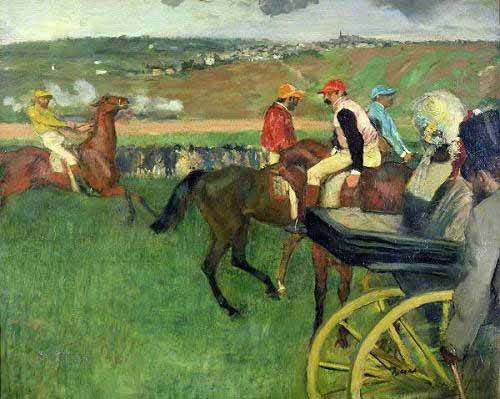 cuadros-de-fauna - Cuadro -The race course- - Degas, Edgar