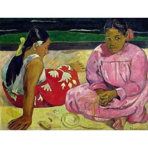 Cuadro -Mujeres de Tahití en la playa-