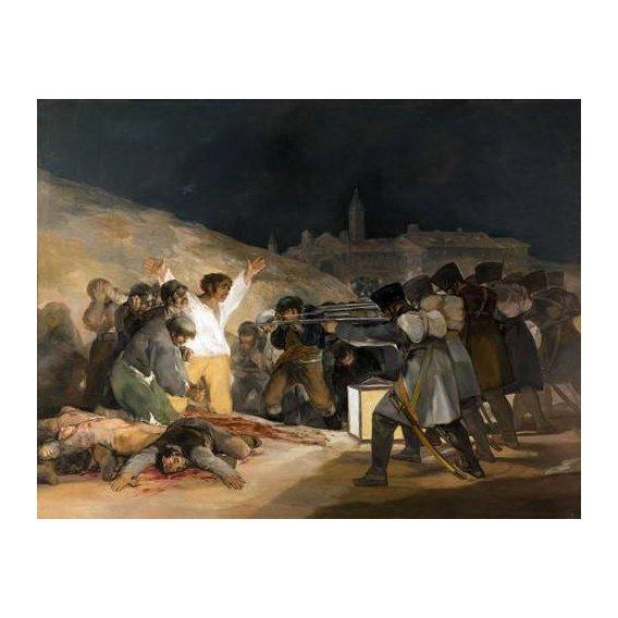 cuadros de retrato - Cuadro -Ejecución de los defensores de Madrid, 3 de mayo de 1808-