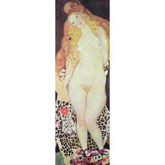 - Cuadro -Adán y Eva- - Klimt, Gustav