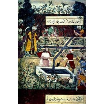 - Cuadro -Memorias de Babur, Emperador con su proyecto- - Mughal