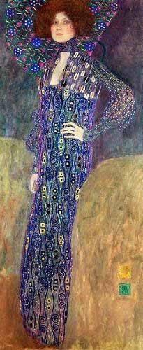 cuadros-de-retrato - Cuadro -Emilie Floege- - Klimt, Gustav