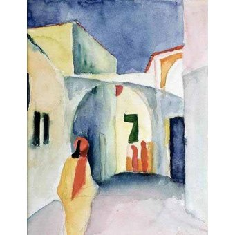 - Cuadro -A Glance Down an Alley- - Macke, August