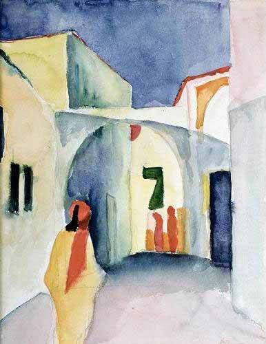cuadros-de-retrato - Cuadro -A Glance Down an Alley- - Macke, August