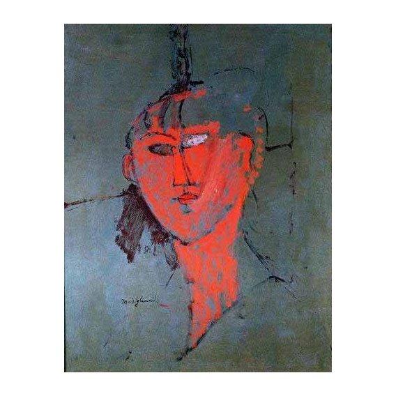 cuadros de retrato - Cuadro -La cabeza roja-
