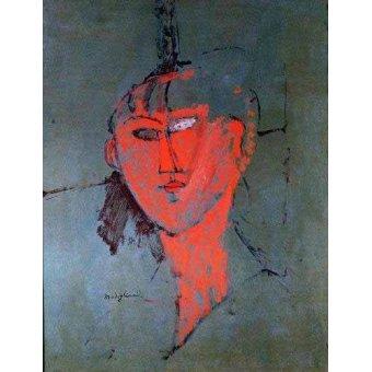 - Cuadro -La cabeza roja- - Modigliani, Amedeo