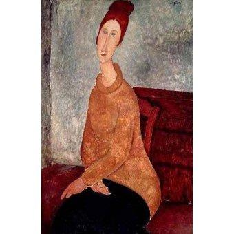 - Cuadro -Jeanne Hebuterne in a Yellow Jumper- - Modigliani, Amedeo