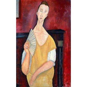 - Cuadro -Mujer con abanico- - Modigliani, Amedeo