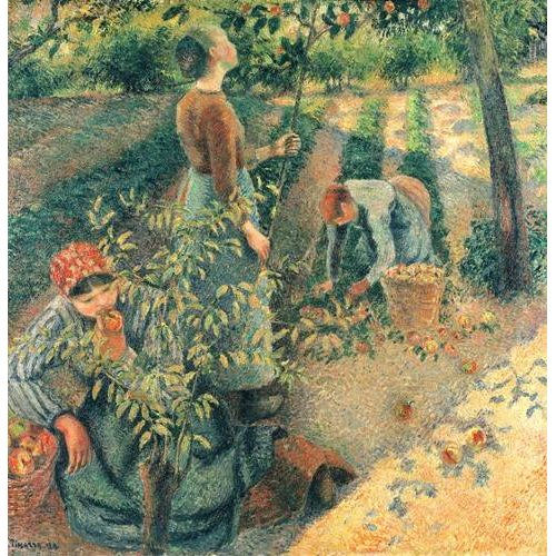 cuadros de retrato - Cuadro -Las recolectoras de manzanas-