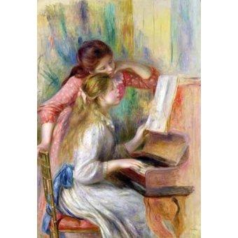 - Cuadro -Jovencitas al piano- - Renoir, Pierre Auguste