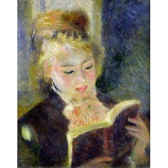- Cuadro -Chica leyendo- - Renoir, Pierre Auguste