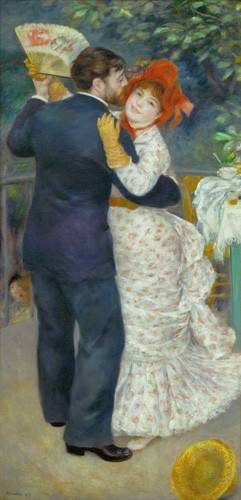 cuadros-de-retrato - Cuadro -A Dance in the Country- - Renoir, Pierre Auguste