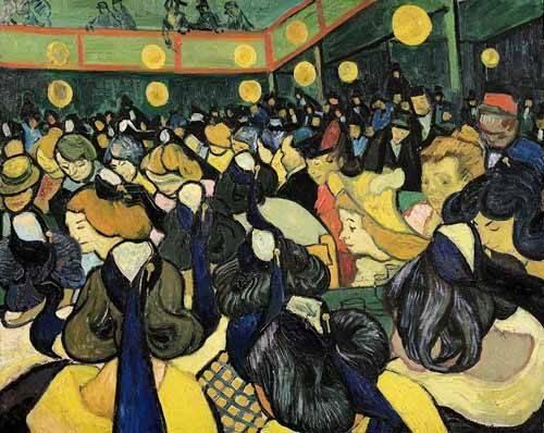 cuadros-de-retrato - Cuadro -La sala de baile en Arles- - Van Gogh, Vincent